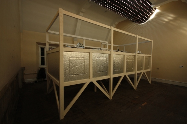 Ark: I could sleep for a thousand years, mixed media sculptural installation, Dublin Contemporary, 2011
