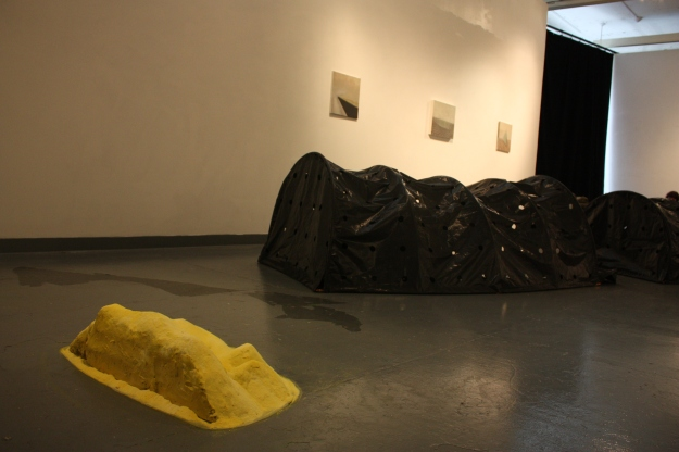 Sulfur Pile, Wendy Judge (foreground).