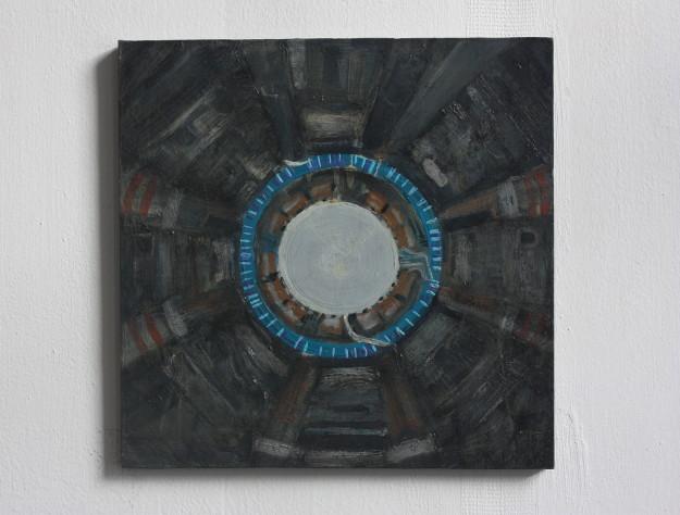 #painting #irishart #contemporaryart #contemporarypainting #mandala #cern #hadroncollider