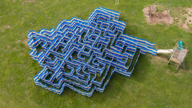 Maze, sculpture, art, labyrinth