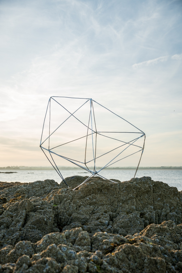 Towards super connection, modular sculptural system: bamboo, aluminium, hydro pipe, steel fixings, dimensions variable, installed at Portrane, Fingal, Co. Dublin 2020